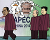 Cartoon: Peking Duck (small) by RachelGold tagged apec,china,usa,russia,obama,xi,putin
