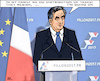 Cartoon: policy as a family business (small) by RachelGold tagged france,presidential,election,campaign,fillon