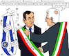 Cartoon: Premier Draghi (small) by RachelGold tagged italien,premier,präsident,ezb,chef,ernennung,matarella,draghi,wahl,demokratie,pandemie,corona,covid19