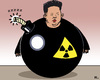 Cartoon: time bomb (small) by RachelGold tagged north,korea,nuclear,test,kim,jong,un