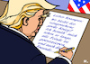 Cartoon: X-Mas-Brief (small) by RachelGold tagged trump,xmas,brief,krampus,oval,office,krieg,weltkrieg