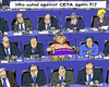 Cartoon: EU CETA Voting (small) by MarkusSzy tagged eu,canada,ceta,belgium,parliament
