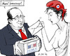 Cartoon: French Election 2 (small) by MarkusSzy tagged france,elections,hollande,national,assembly