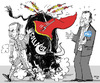Cartoon: Handover of Power- in Spanish (small) by MarkusSzy tagged spain,election,zapatero,rajoy,bullfight,collapse,crisis,eurocrisis,pp,psoe