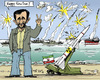 Cartoon: New-Years Fireworks in Iranean (small) by MarkusSzy tagged iran,ahmadinejad,maneuvers,on,sea,missiles,fireworks