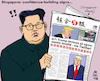 Cartoon: Singapore-Summit (small) by MarkusSzy tagged g7,summit,singapore,usa,northern,korea,trump,kim,jong,un,agreements
