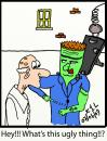 Cartoon: Frankys Critic (small) by chriswannell tagged frankenstein,tatoo,gag,cartoon