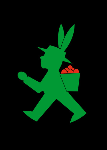 Cartoon: Osterhase (medium) by Thomas Bühler tagged ostern,hase,ampelmännchen,osterhase