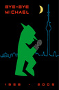 Cartoon: bye bye Michael (small) by Thomas Bühler tagged ampelmännchen michael jackson musik shocw pop