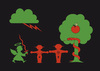 Cartoon: Sündenfall (small) by Thomas Bühler tagged ampelmännchen bibel sünde paradies adam eva