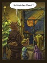 Cartoon: ihr kinderlein.. (small) by künstlername tagged komet,chrismas,weinachten,weltuntergang