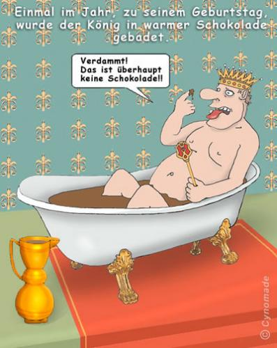 Cartoon: Stunk bei Hofe! (medium) by moonman tagged wellness,adel,lifestyle
