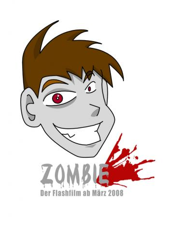 Cartoon: Flashfilm Poster Zombie (medium) by ms-illustration tagged zombie