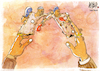 Cartoon: Confrontation (small) by Nayer tagged war,peace,military,general