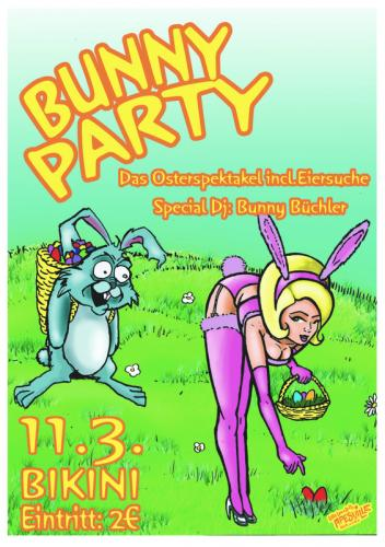 Cartoon: Bunny Party poster (medium) by Christian Nörtemann tagged osterhase,ostern,bunny