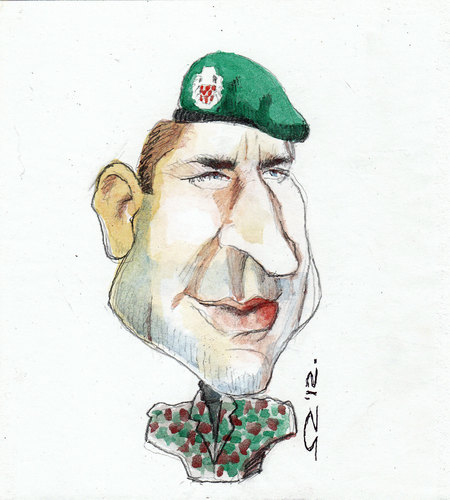 Cartoon: ante gotovina (medium) by zed tagged caricature,portrait,storm,war,liberation,justice,freedom,croatia,pakostane,gotovina,ante,general
