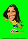 Cartoon: Marta Brasil (small) by Caricaturas tagged marta,brasil,caricatura,caricature,brazil,worlcup,woman,soccer,football