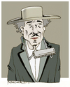 Cartoon: Bob Dylan (small) by firuzkutal tagged firuzkutal,bobdylan,dylan,american,legend,tradition,music,nobelprize,nobel,blowing,times,changing