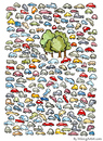 Cartoon: A few trees left.... (small) by Frits Ahlefeldt tagged cars,trees,park,nature,pollution,eco,ecology