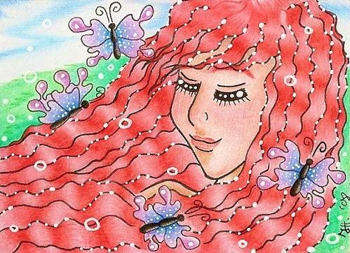 Cartoon: Butterfly-Wind (medium) by Metalbride tagged kakaokarten,sammelkarten,traiding,cards