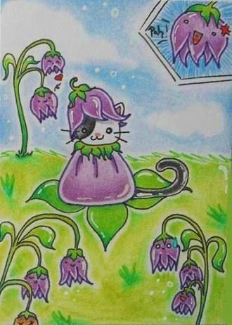 Cartoon: Kitty or Flower (medium) by Metalbride tagged traiding,card