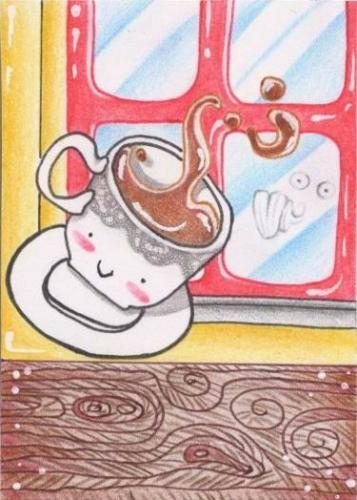 Cartoon: little chocolate (medium) by Metalbride tagged traiding,card
