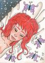 Cartoon: Butterfly-Dream (small) by Metalbride tagged kakaokarten,sammelkarten,traiding,cards