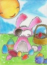 Cartoon: Kitty or Easterbunny (small) by Metalbride tagged katze