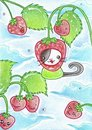 Cartoon: Kitty or Strawberry (small) by Metalbride tagged traiding,card,katze,widget