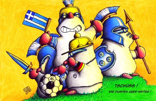 Cartoon: Maulwurf Griechenland (medium) by Jupp tagged geld,banken,krise,bank,cyprus,zypern,em,soccer,fussball,hellas,greece,griechenland,mole,maulwurf