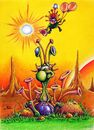 Cartoon: Krokanteier in Space (small) by Jupp tagged space illustration alien sun sunset pain