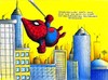 Cartoon: Maulwurf_Spiderman (small) by Jupp tagged maulwurf mole spiderman faultier radioaktiv kampf fight comic marvel sloth jupp bomm design kolmer kostüm netz wandkletterer peter stadt ny häuser new york superhero spinnenmann bilder bild cartoon illustration