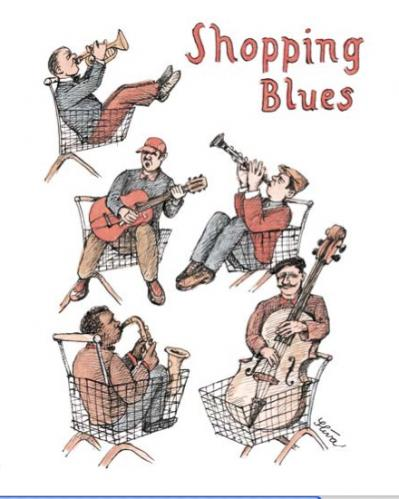 Cartoon: Shopping Blues (medium) by Jiri Sliva tagged blues,music