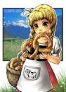 Cartoon: Brezel (small) by Marie Sann tagged girl,manga,bayern,deutsch,cute
