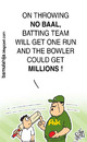 Cartoon: Noball Funda!! (small) by bamulahija tagged pakistan cricket cartoon spot finxing