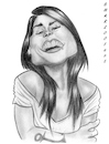 Cartoon: Pascale Picard (small) by shar2001 tagged caricature,pascale,picard,band,canada
