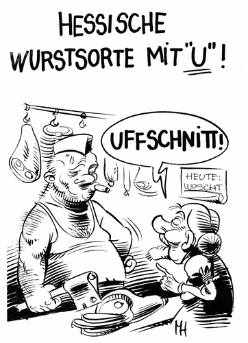 Cartoon: da lacht der hesse (medium) by herr Gesangsverein tagged tja