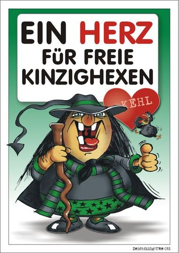 Cartoon: KINZIGHEXE KEHL (medium) by BARHOCKER tagged fasching,fastnacht,carneval,kinzighexe,kehl,uwe,ott,ottdesign,barhocker
