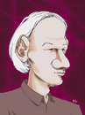 Cartoon: Julian Assange (small) by Mattia Massolini tagged assange wikileaks