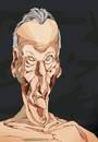 Cartoon: Lucian Freud (small) by Mattia Massolini tagged lucian,freud,painter,caricature,portrait