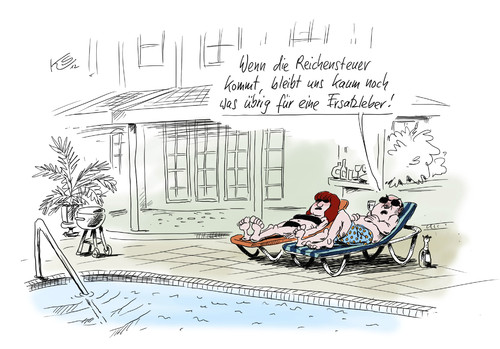 Cartoon: Ersatzleber (medium) by Stuttmann tagged reichensteuer,organspender,organhandel