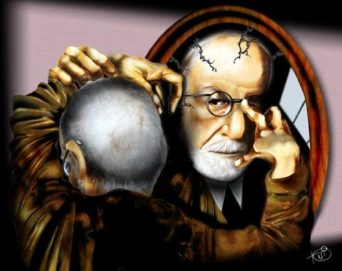 Cartoon: Freud (medium) by Toni DAgostinho tagged caricature