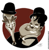 Cartoon: Laurel and Hardy (small) by Toni DAgostinho tagged laurel,and,hardy