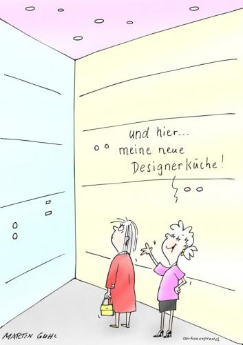 Cartoon: design küche architektur (medium) by martin guhl tagged design,küche,architektur
