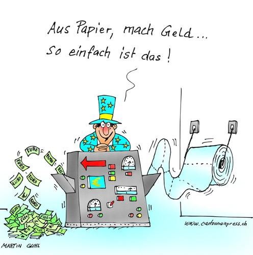 Geld Karikatur