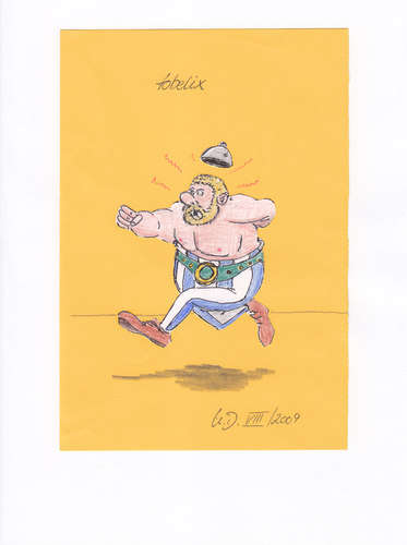 Cartoon: Tobelix (medium) by tobelix tagged tobelix,selbstbildnis,obelix