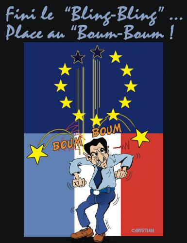 Cartoon: europe en panne (medium) by CHRISTIAN tagged europe,sarkozy