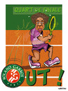 Cartoon: Gael MONFILS elimine ... (small) by CHRISTIAN tagged roland garros gael monfils
