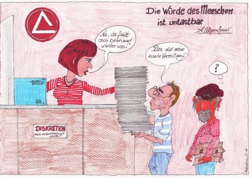 Cartoon hartz 4 kalender motiv juli 2010 medium by mescalero tagged