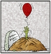Cartoon: Pretty Zombie (small) by gultekinsavk tagged zombie,wake,up,catch,balloon